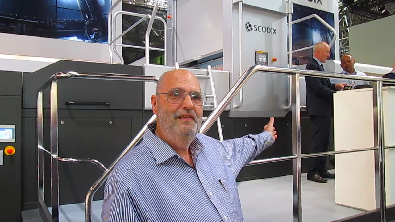 Frank Visits Scodix at drupa 2016