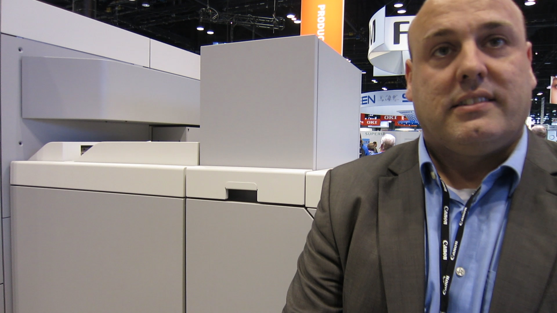 Video preview: Frank takes a look at Canon's Océ i300 at Print 17