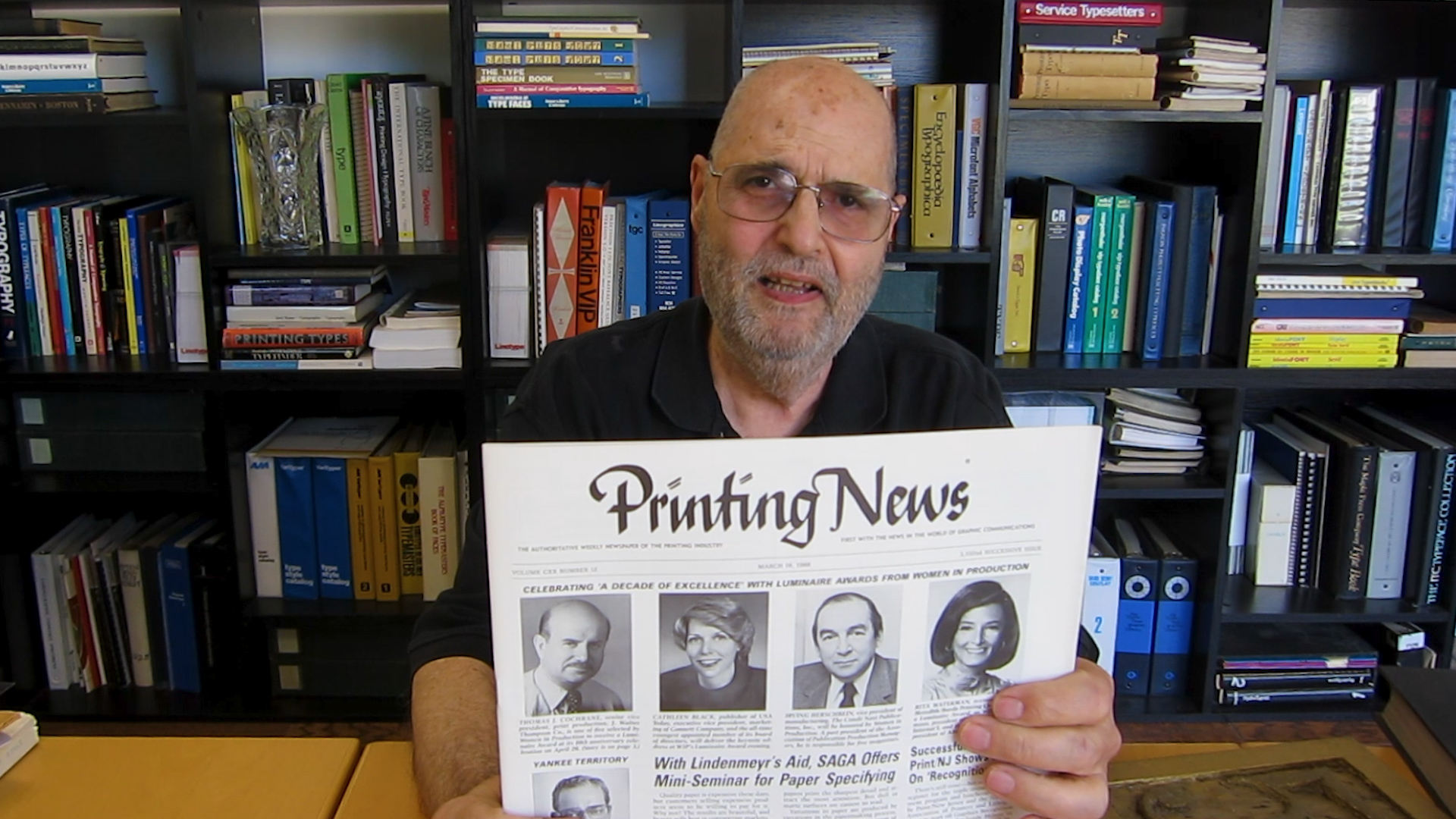Video preview: Frank Looks Back at—and Ahead to—Printing News