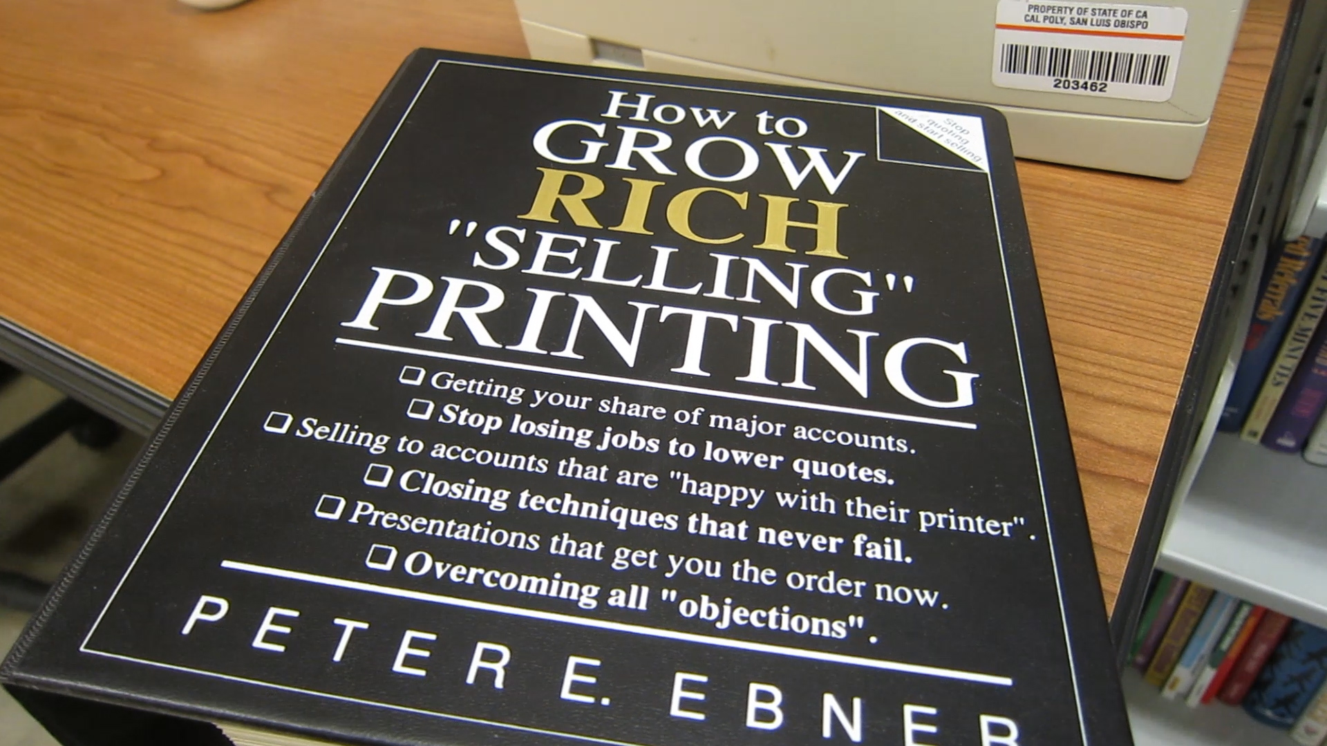 Video preview: Frank On How to Get Rich Selling Printing