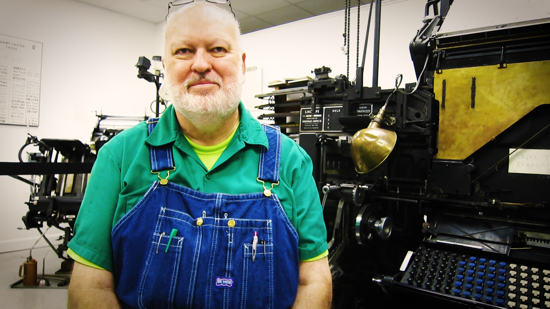 Video preview: Frank Talks to Linotype Maintenance Specialist Dave Seat