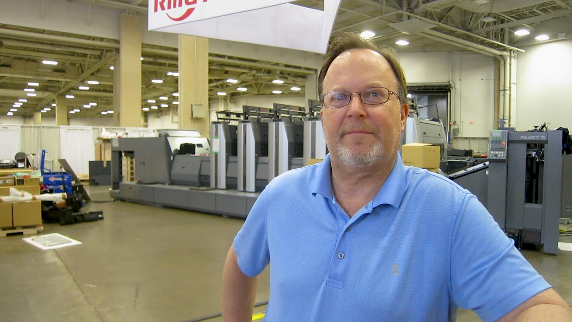 "Video preview: Frank at PRINTING United: RMGT ""Commits to Print"""