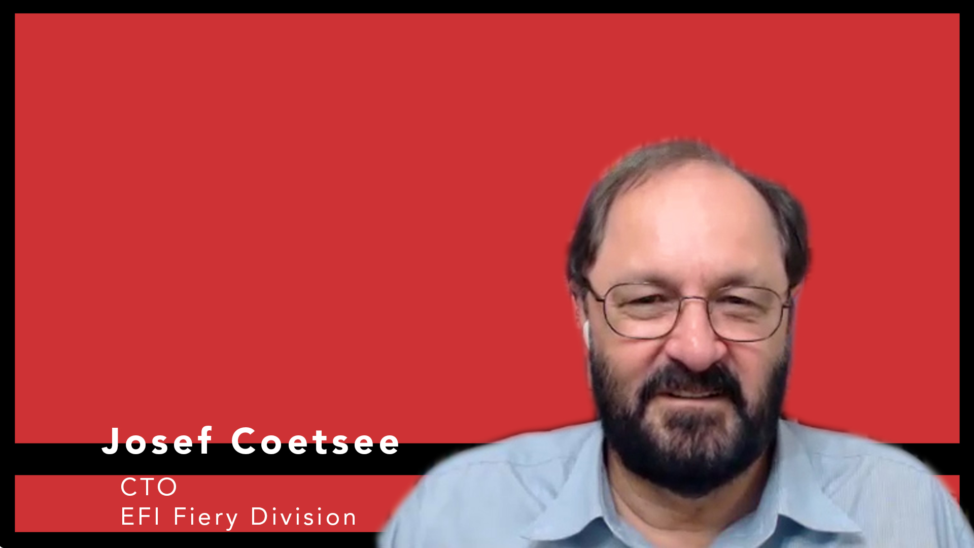 Video preview: EFI's Fiery Business CTO Josef Coetsee on DFEs