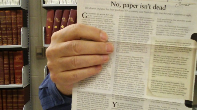 Video preview: Kindle, Schmindle...Paper Lives!