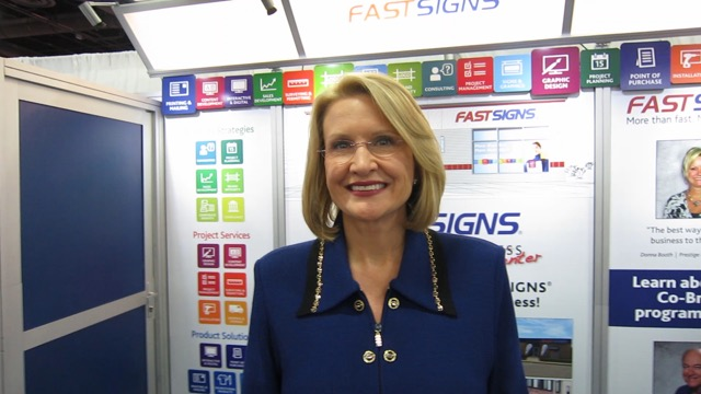 FastSigns' CEO Catherine Monson at ISA Sign Expo